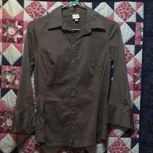 Brown Button Down Dress Shirt